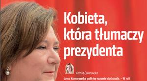Kobieta, która tłumaczy prezydenta