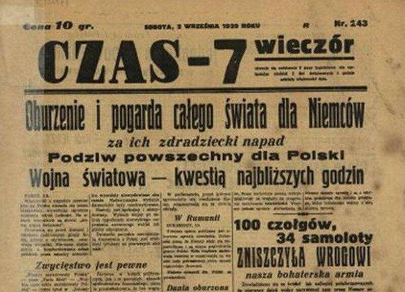 """""""Czas-7"""", 2 września Dziennik trafnie ocenił wydarzenia, których świadkiem było polskie społeczeństwo. Niemiecka inwazja rzeczywiście oznaczała początek wojny światowej."""